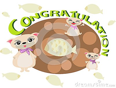 Cat congratulation FOR U