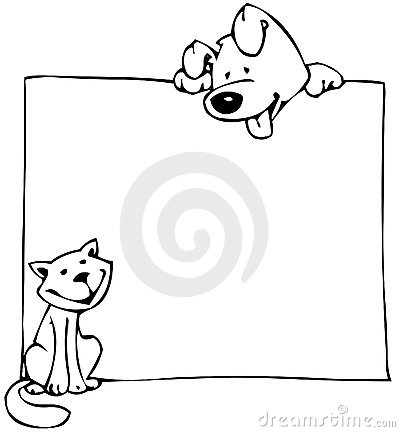Free Cat Dog And Poster Stock Image - 2855301
