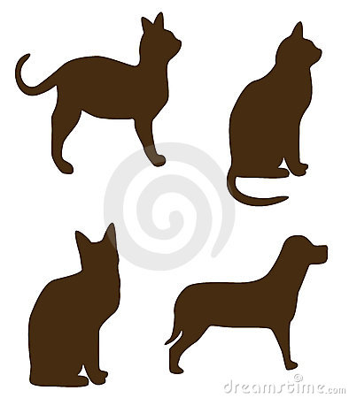 Cat dog shapes