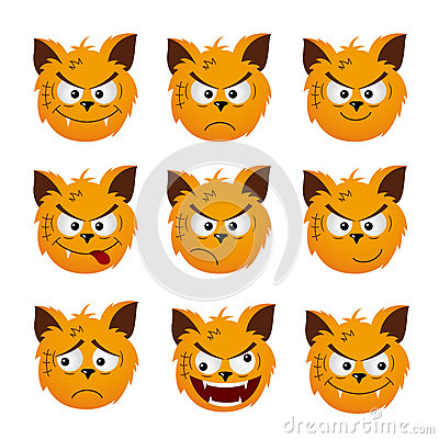 Cat Emoticons Stock Vector - Image: 51322244