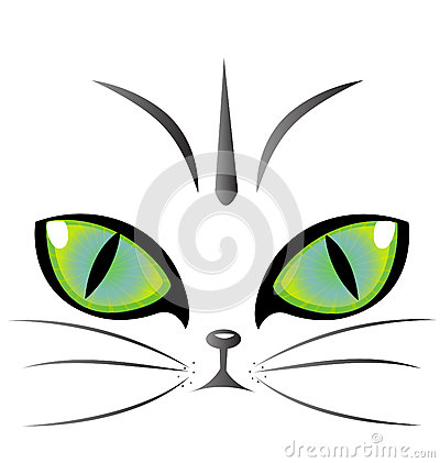 Cat eyes logo vector