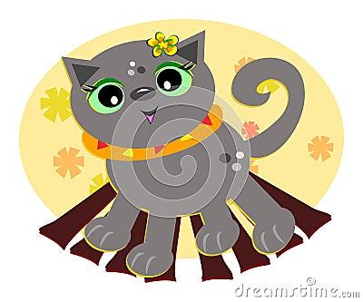 Cat in Fall Colors