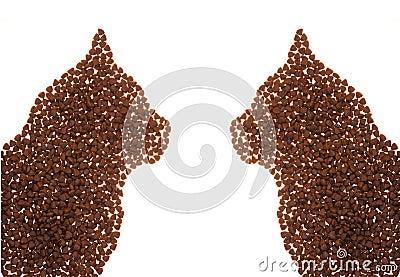 Cat food shape