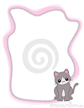 cat frame border