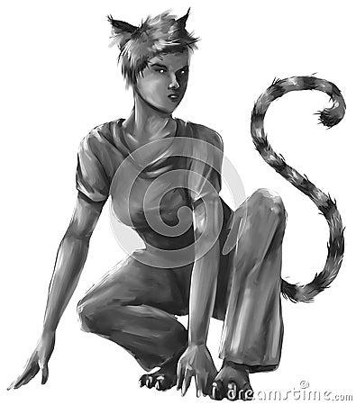 Cat girl sketch