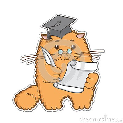 Cat is a graduate