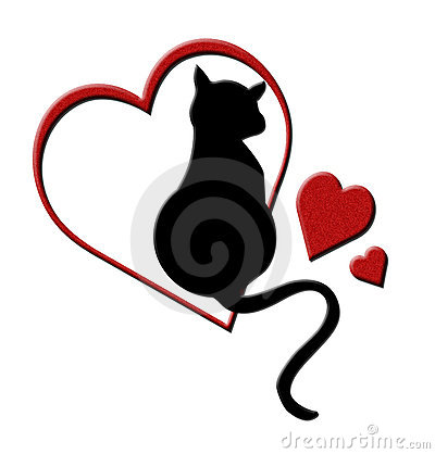 Cat in Hearts