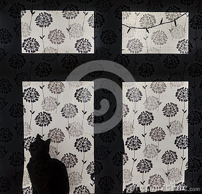 Free Cat In The Window Silhouette Royalty Free Stock Photography - 74207967