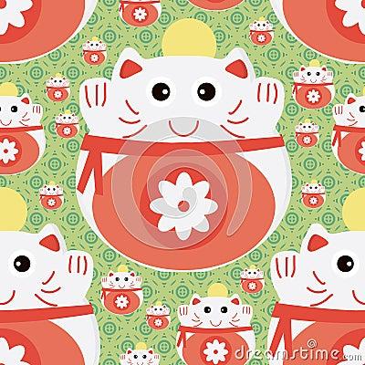 Free Cat Japan Money Seamless Pattern Royalty Free Stock Photo - 48550245