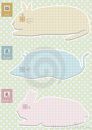 Cat Mouse Rabbit Shape Style_eps