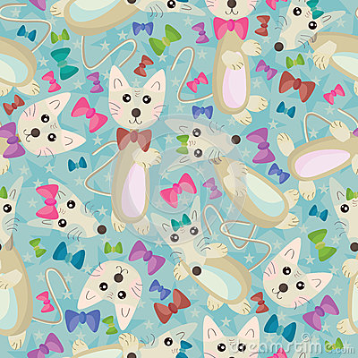 Cat And Mouse Seamless Pattern_eps_