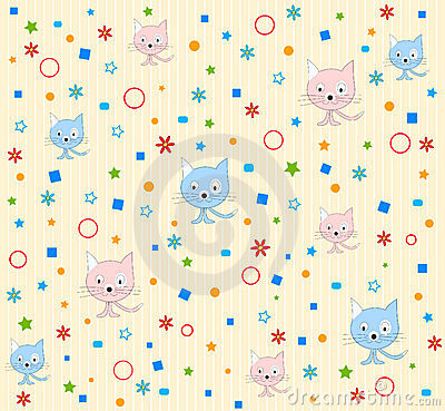 Cat pattern background
