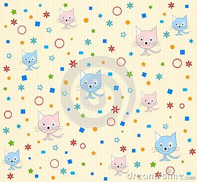 Cat pattern background