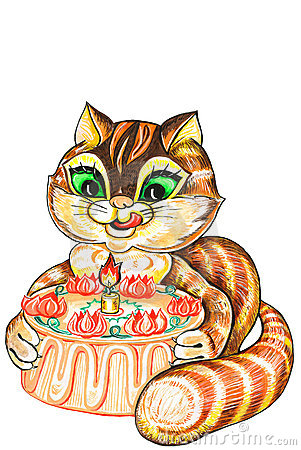 Cat and pie
