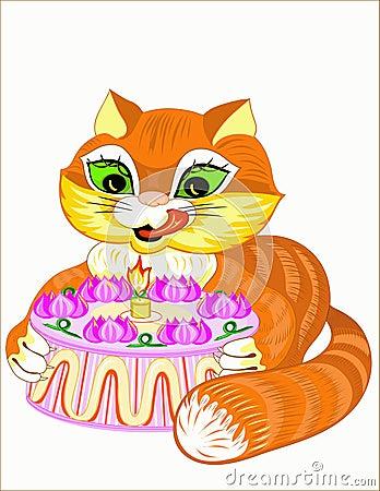 Cat and pie