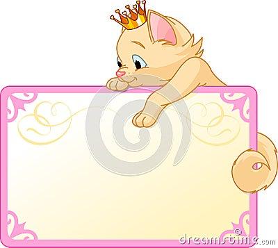 Cat Princess Invite or Placard