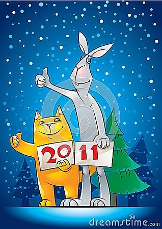 Cat_and_rabbit