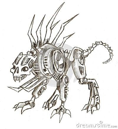 Panther cyborg