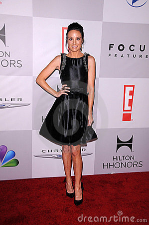 Cat Sadler at the NBC/Universal/Focus Features Golden Globes Party, Beverly Hilton Hotel, Beverly Hills, CA 01-15-12 Editorial Image