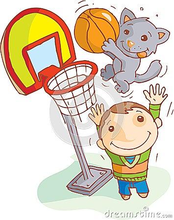 Cat scores basket