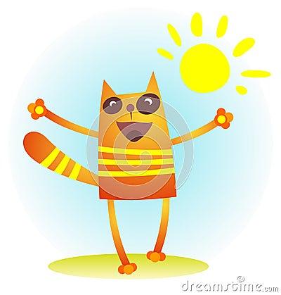 Cat with sun