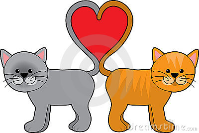 Cat Tail Hearts