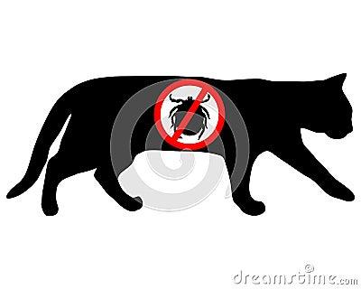 Cat tick prohibited