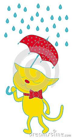 Cat and umbrella
