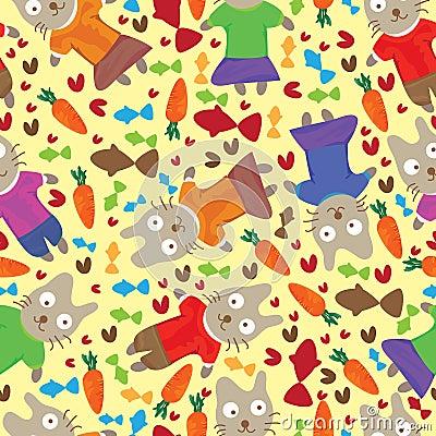 Cat Vegetarian Seamless Pattern_eps