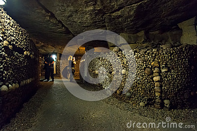 The Catacombs of Paris Editorial Photo