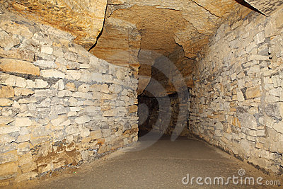Catacombs velhos Odessa, Ucrânia (século de XVIII-XX)