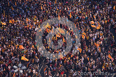 Catalan demonstration Editorial Image
