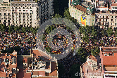 Catalan demonstration Editorial Photography