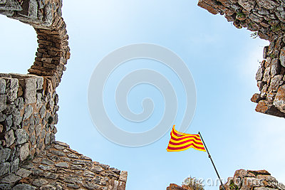 Catalan flag flying