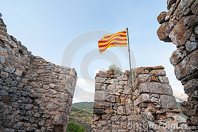 Catalan flag wavin
