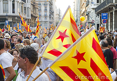 Catalan independence rally Editorial Image