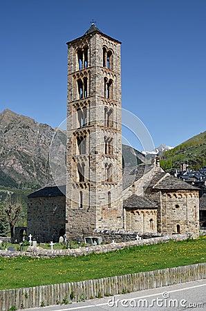 Catalan Romanesque Church Of The Vall De Boi Stock Photo ...