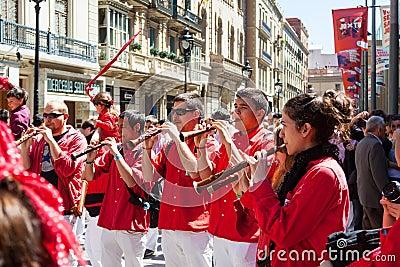 Catalan show Editorial Photo