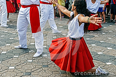 Catalan Spanish Dance Editorial Photography