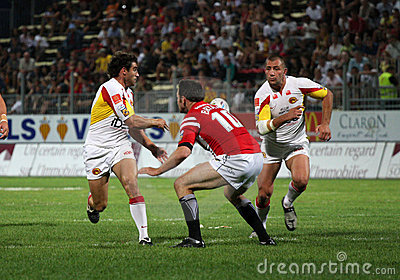 Catalans Dragons vs Celtic Crusaders Editorial Image
