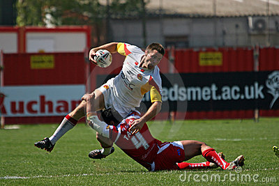 Catalans Dragons vs Salford City Reds Editorial Photography