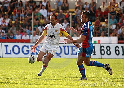 Catalans Dragons vs Wakefield Wildcats Editorial Stock Image