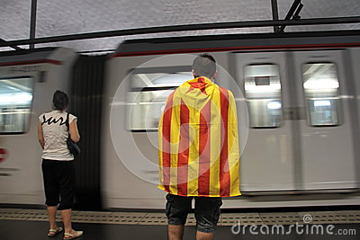 Catalonia Independence day Editorial Image