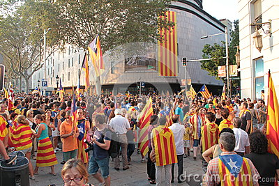 Catalonia Independence day Editorial Stock Image