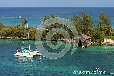 Catamaran in bahamas