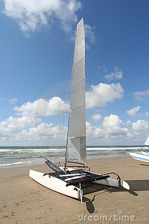Catamaran on the Beach
