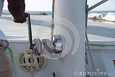 Catamaran close up