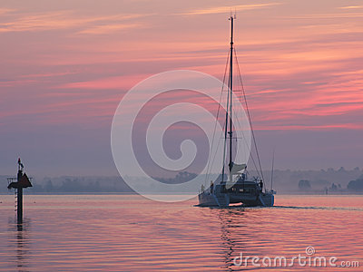 Catamaran at Dawn