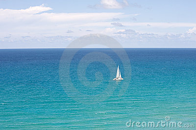Catamaran in the ocean