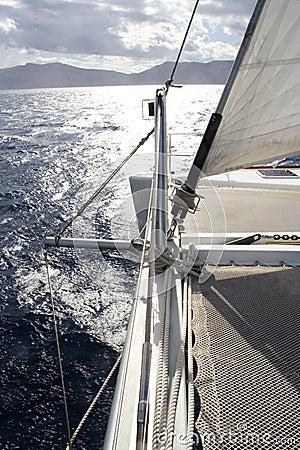 Catamarans bow